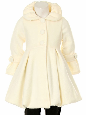 Ivory bubble coat