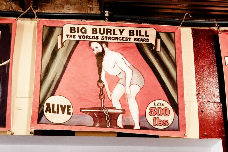 Vintage circus sign