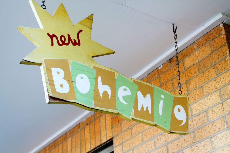 New bohemia small sign