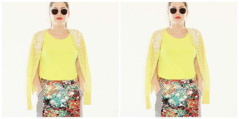 Neon florals collage 3